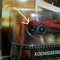 Hotwheels Koenigsegg Agera R Error tanpa bamper belakang