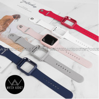 Silicone Strap Case Apple Watch iWatch IWO Rubber 42mm 44mm 38mm 40