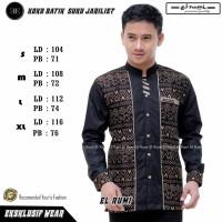 baju koko gus azmi terbaru new elrumi seragam hadroh motif batik new