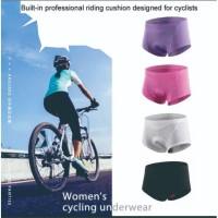 Celana Dalam Sepeda Gowes Wanita Women Padding Sponge Gel 3D Pink Soft