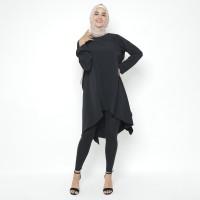Heaven Sent - Tunik Atasan Wanita Muslim Terbaru Model Sashya Black - S