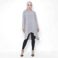 Heaven Sent - Tunik Atasan Wanita Muslim Terbaru Model Sashya Grey