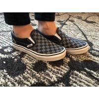 Sepatu Vans Slip On Checkerboard Grey black