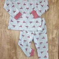 Setelan Erdans Basic Love Bird Pink Piyama Baju Main Anak Perempuan
