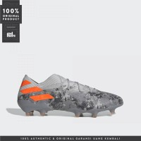 ORIGINAL Adidas Sepatu Bola Nemeziz 19.1 Firm Ground Orange EF8281