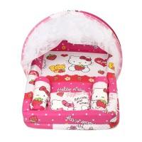 Kasur Bayi Set + Kelambu Karakter Huulla Baby - Hello Kitty