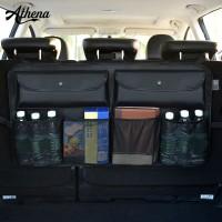 Car Seat Back Mesh Pocket Organizer Leather Hanging Storage Bag