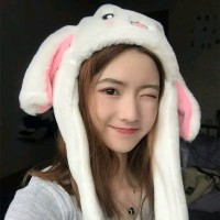 Ready Banny hat - Topi kelinci Twice - kuping bergerak - topi import