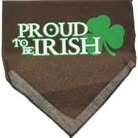 Mirage Pet Products Proud to be Irish Screen Print Bandana, Large, Coc