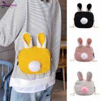 Fa Tas Selempang Mini Kanvas Aksen Telinga Kelinci+Tali Rantai Untuk