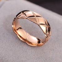 Cincin Titanium Asli 24K Emas Cincin Rosegold Hadiah Liburan Terbaik