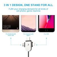 Stand Holder Charging Dock Micro USB Tipe C untuk Handphone / Tablet