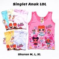 Baju Anak Cewek Perempuan KAOS SINGLET MOTIF LOL KAOS DALAM TANKTOP