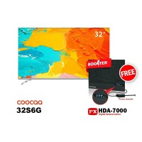 COOCAA LED TV 32 inch 32S6G SMART ANDROID FREE ANTENA PX HDA-7000