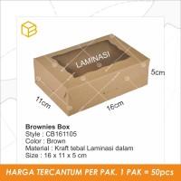 CB161105 - Cake box, Brownies box, Packaging, Dus kue, Kotak souvenir