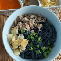 Bakmi / Yamin / Mie Ayam Charcoal Mamayu (Frozen / Beku / Vacuum)