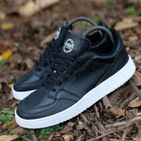 Sepatu Adidas SuperCourt black white leather