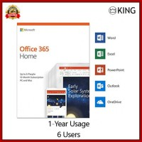 MICROSOFT OFFICE 365 HOME (5USERS; 10PC; 1TAHUN), DIJAMIN ASLI