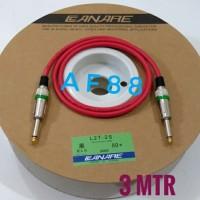 Kabel gitar 3 mtr full jack akay mono kabel canare merah
