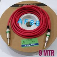 Kabel gitar 9 mtr full jack akay mono kabel canare merah