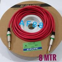 Kabel gitar 8 mtr full jack akay mono kabel canare merah