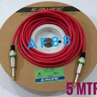 Kabel gitar 5 mtr full jack akay mono kabel canare merah