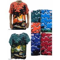 Promo Murah Baju Bali Atasan Motif Pantai Mobil Warna Random