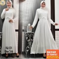 Baju Gamis Putih Lebaran Umroh Haji / Baju Busana Muslim Wanita # 121