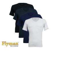 Flyman Man T-Shirt V-Neck Kaos Pria Dewasa FMA 3137