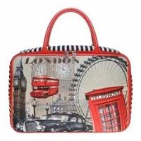 TRAVEL BAG KANVAS KOPER JINJING TAHAN AIR DOUBLE SLETING LONDON PARIS