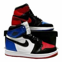 Sepatu Nike Air Jordan Retro 1 Hi Top3 Three Blue White Red Black BNIB