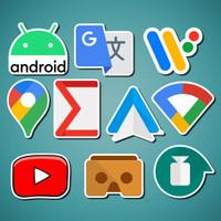 Stiker/Sticker Google untuk Laptop, Mobil, Koper, dll