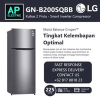LG GN-B200SQBB Lemari Es Kulkas 2 PINTU GNB200SQBB Grs Rsmi 225 Liter