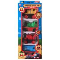 Mainan Anak Kereta Thomas 4 pcs bahan Plastik bisa pullback