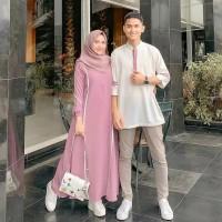 Baju Couple Set Termurah Farzana Couple Moscrepe Baju Muslim Trendy
