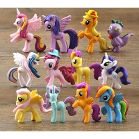 Set Mainan / Pajangan Hiasan Kue Little Pony Kuda Poni Unicorn Medium