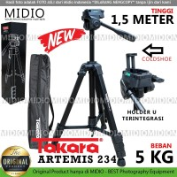 TRIPOD Takara Artemis 234 Plus HOLDER U Handphone With Fluid Head