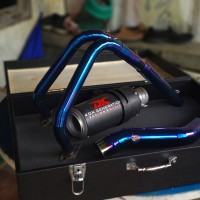 knalpot racing GPR Carbon Fullsystem Header Blue Ninja 250 Cbr 250 R25