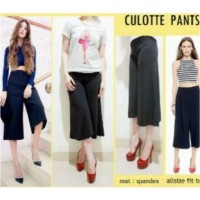 Celana Kulot wanita pendek 7/8 bahan Jersey All size standard