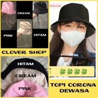 Topi Corona Anti Virus Dewasa Warna APD Mask Hat / Blocking Hat