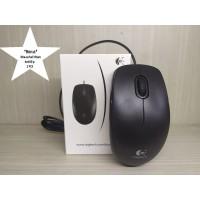 Mouse Logitech B100 Optical USB + MousePad Hitam Anti Slip 1 PCS