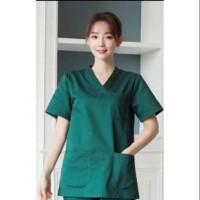 Baju oka lengan pendek (atasan saja) / baju perawat / baju dokter jaga
