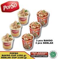 Bakso sehat popso paket B ( 3 cup bakso & 3 cup seblak)