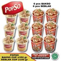 Bakso sehat popso paket C (6 cup bakso & 6 cup seblak)