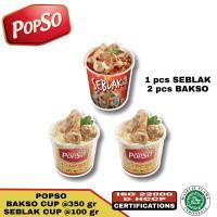 Bakso sehat popso paket A ( 2 cup bakso & 1 cup seblak )