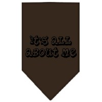 Mirage Pet Products It's All About Me Screen Print Bandana, Large, Coc