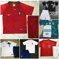 setelan anak 2-9thn baju bola soccer piala dunia 2018 futsal portugal