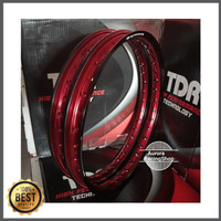 Velg TDR Wx Shape Two Tone Set Ring 17 x 140 / 140 warna Black Red