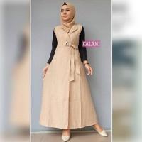 baju muslim wanita blouse tunik jumpsuit jampsuit jamsuit kalani mocca