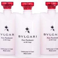 Bvlgari Eau Parfumee Au the Rouge Body Lotion, 2.5 oz. Set of 3